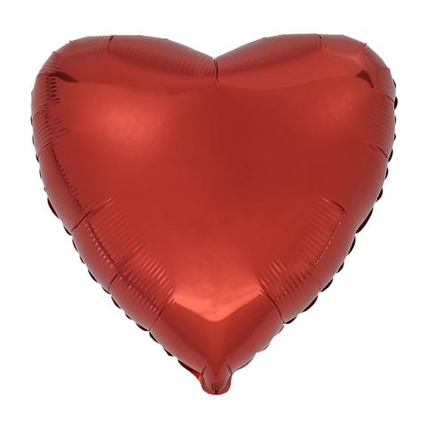 Воздушный шар Сердце 44см (Красное)