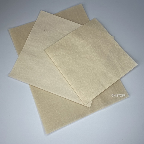 Бумага крафт в листах 300х300 мм коричневая (пергамент листовой)