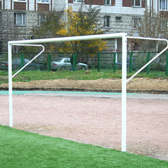 Футбольные ворота стационарные юниорские 2х5 м (пара), d=89мм.