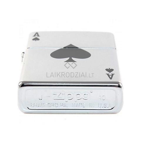 Зажигалка Zippo с покрытием High Polish Chrome, латунь/сталь, серебристая, глянцевая, 36x12x