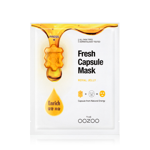 THE OOZOO Маска  с капсулой-активатором с маточным молочком Fresh Capsule Mask Royal Jelly