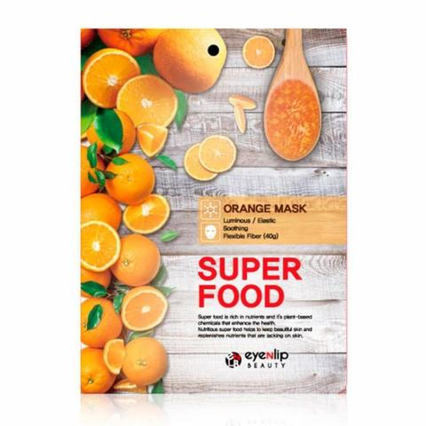 EYENLIP Тканевая маска с апельсиновым маслом SUPER FOOD ORANGE MASK 1 шт