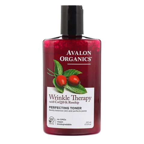 Avalon Organics CoQ10 & Rosehip: Тоник против морщин с коэнзимом Q10 и шиповником (Wrinkle Therapy With CoQ10 & Rosehip Toner), 240мл