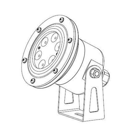 Светильник для фонтана ULV406-RGB-PWM-2Co-VL Submersible LED Light 15W/12-24V/22gr/547lm/2cab.o. 10-15 mm
