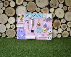 Бизиборд компакт с розовой основой для девочки