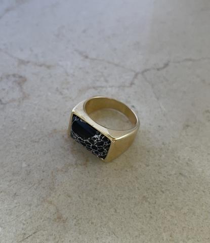 Кольцо Мрамор, позолота