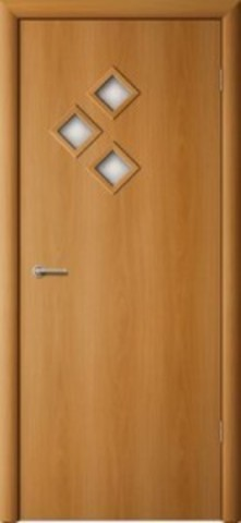 Дверь Сибирь Профиль Стрела, цвет миланский орех, остекленная
