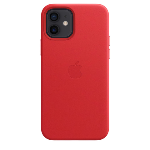 Apple Leather Case на iPhone 12/12Pro (PRODUCT)RED