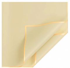 Пленка для цветов, матовая с золотой каймой, Желтая, 50 мкр,58*58 см, 10 листов, 1 уп.