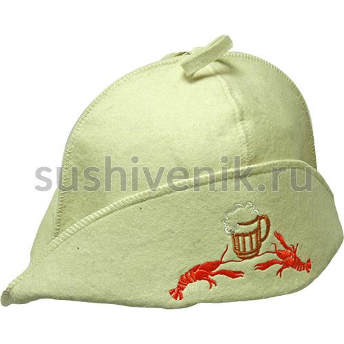 Банная шапка Раки, пиво