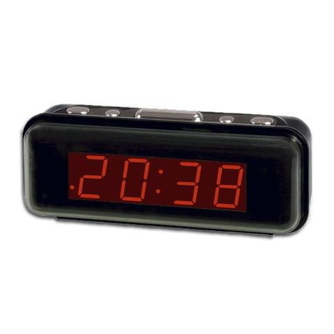 Часы сетевые 738-1 красные, 220V