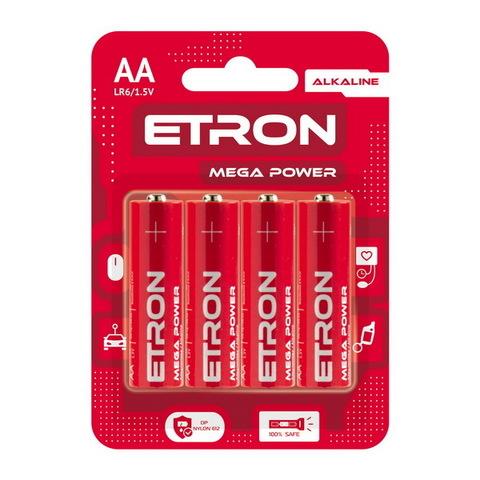 Батарейки Maxus/Etron Alkaline LR6, AA (8/96) BL