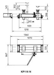 Канавный домкрат (траверса) гидравлический BUTLER КР118N (Италия). Грузоподъёмность 13,5 т.