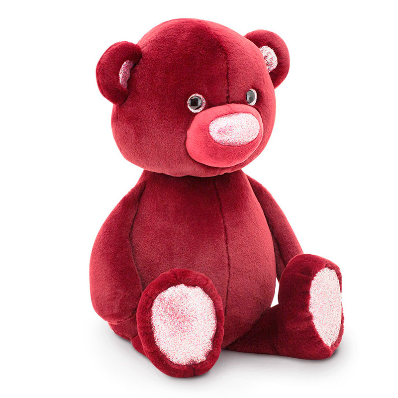 Пушистик Медвежонок бордовый Orange Toys