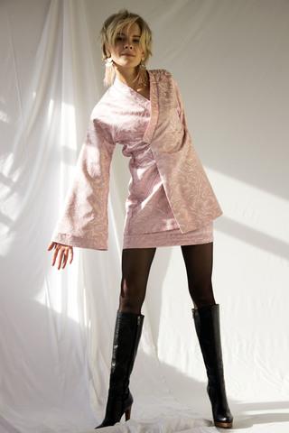 Жакет из жаккарда в восточном стиле + юбка мини