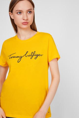 Женская желтая футболка Tommy Hilfiger
