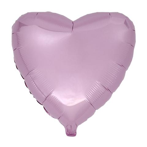 Воздушный шар Сердце 44см (Розовое) Пастель