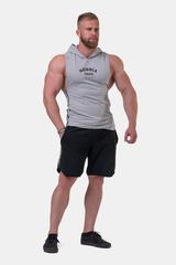 Мужская майка c капюшоном Nebbia Legend-approved hoodie tank top 191 Light grey