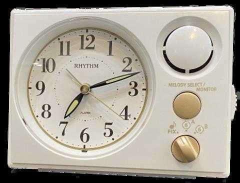 Настольные часы-будильник Rhythm 8RM402WU03
