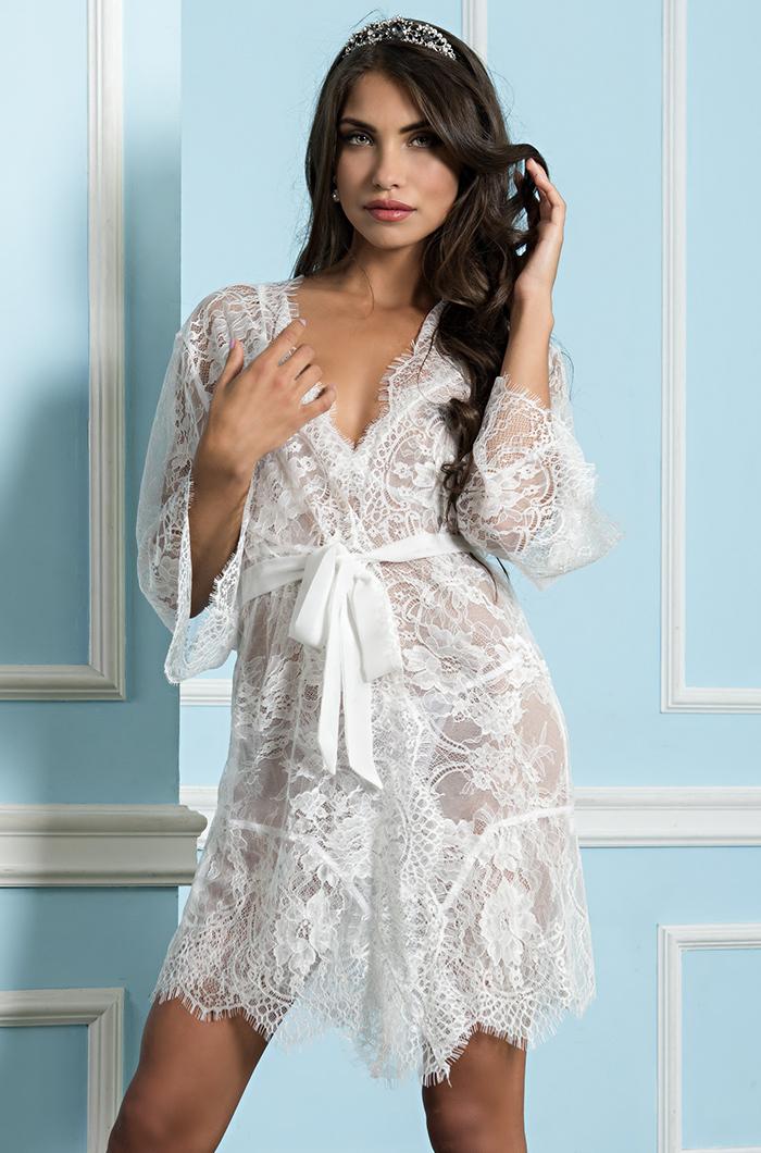 Халаты женские Халат женский из кружева   MIA-MIA  Шанель  2023 белый 2023.1.jpg