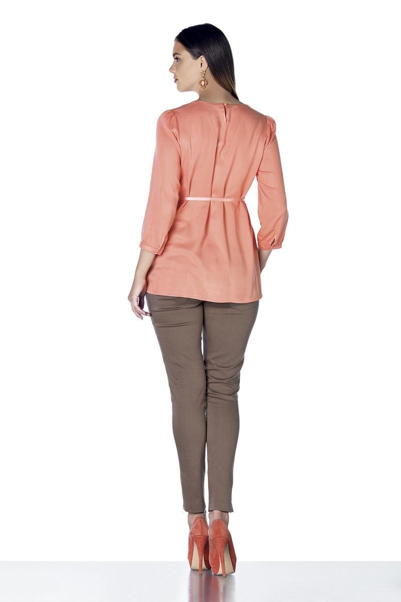 Блузка для беременных 01401 коралл