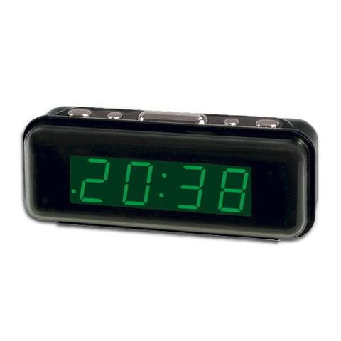 Часы сетевые 738-2 зеленые, 220V