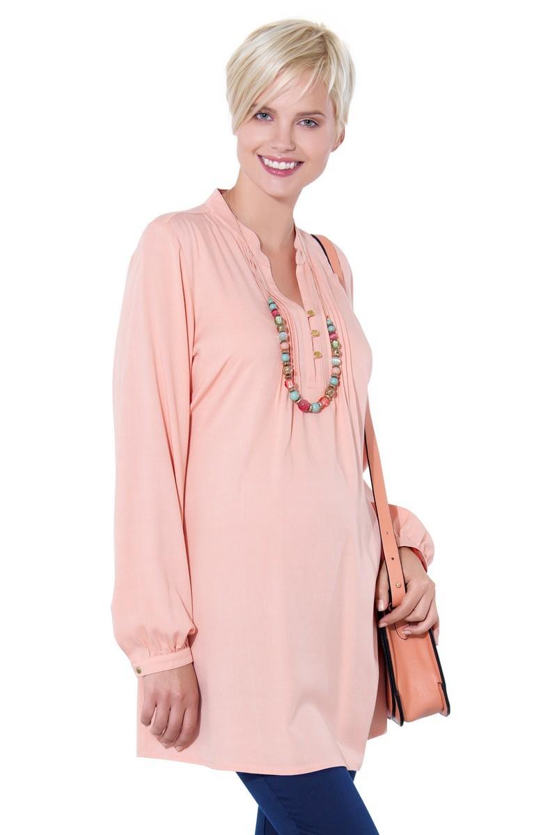 Блузка для беременных 01384 розовый