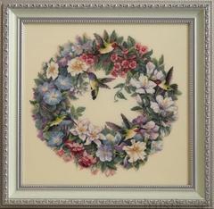 DIMENSIONS Hummingbird Wreath (Венок и колибри)