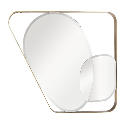 KFE1210 Зеркало в металлич. раме цвет золото 91*102см