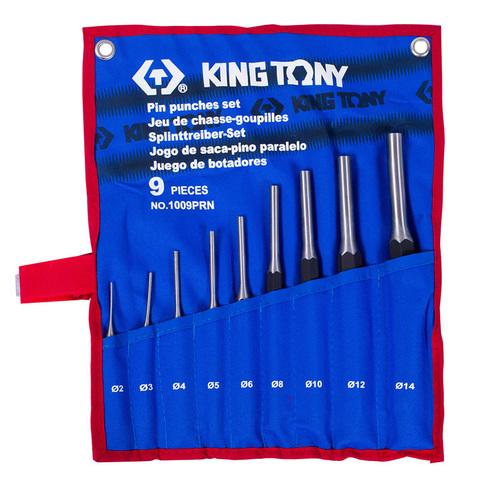 KING TONY (1009PRN) Набор выколоток, чехол из теторона, 9 предметов