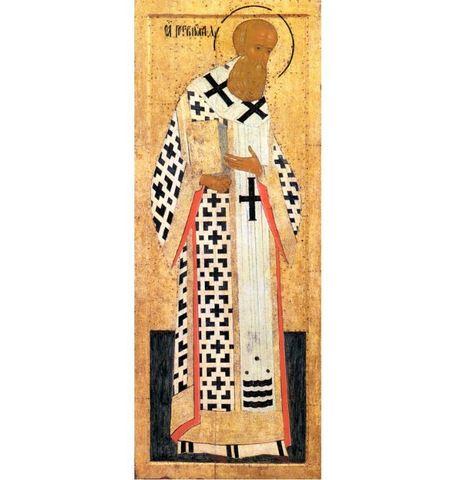 Икона святой Григорий Богослов на дереве на левкасе мастерская Иконный Дом