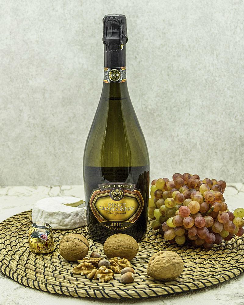 Вино Игристое Pirovano Колле Бакко Пино Шардоне Спуманте Белое Брют 11% 0,75 л.