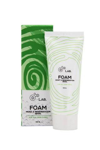 Пенка для умывания МУЦИН УЛИТКИ Foam Moist & Regeneration Snail, 100 мл D2 Lab