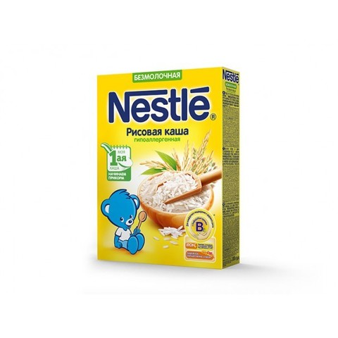 Nestlé® Безмолочная рисовая каша гипоаллергенная