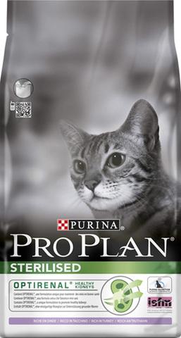 10 кг. PURINA PRO PLAN Сухой корм для стерилизованных кошек с индейкой Sterilised Turkey
