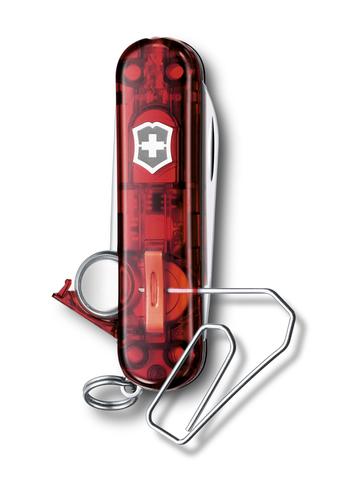 Нож-брелок Victorinox Midnight Manager@work, USB 16 Гб, 58 мм, 10 функций, красный полупрозрачный