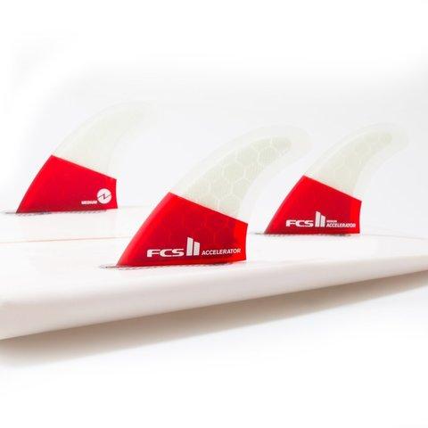 FCS II Accelerator PC Red Mood Tri Retail Fins