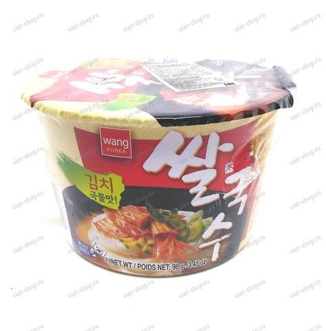 Корейская рисовая лапша со вкусом кимчи Rice noodle with kimchi flavor, 98 гр.