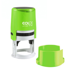 Оснастка для печати круглая Colop Printer R40 Neon 40 мм с крышкой зеленая