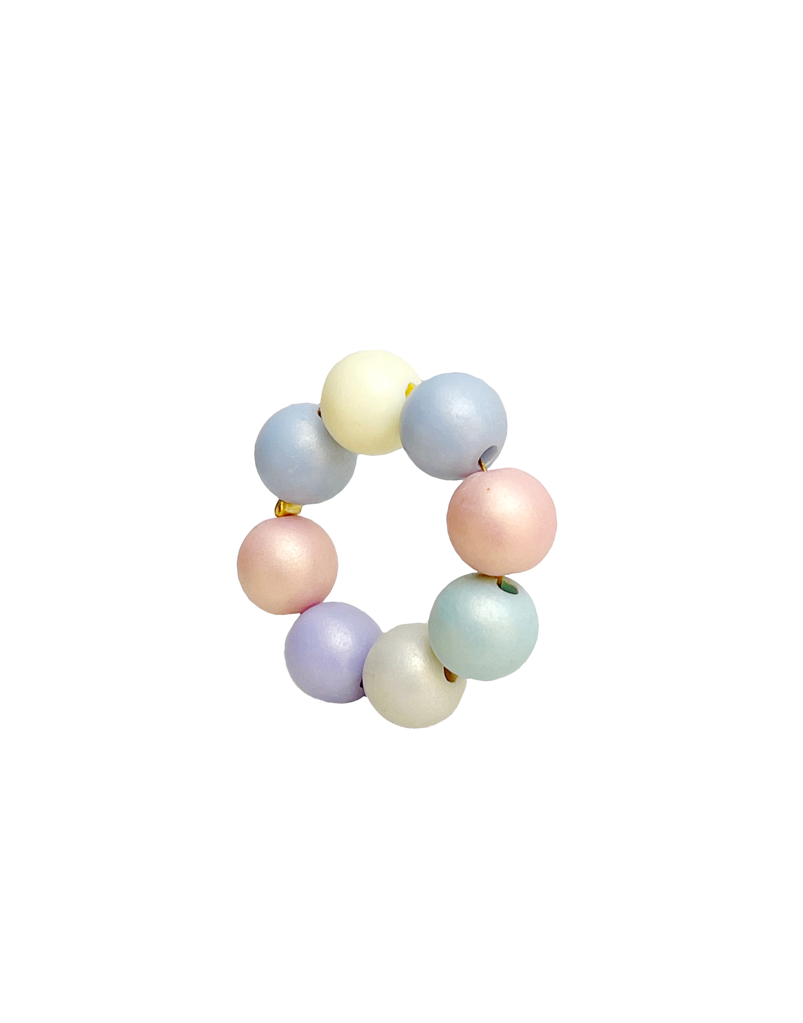 Подвеска Кольцо из бусин 8 мм / pastel multicolor /