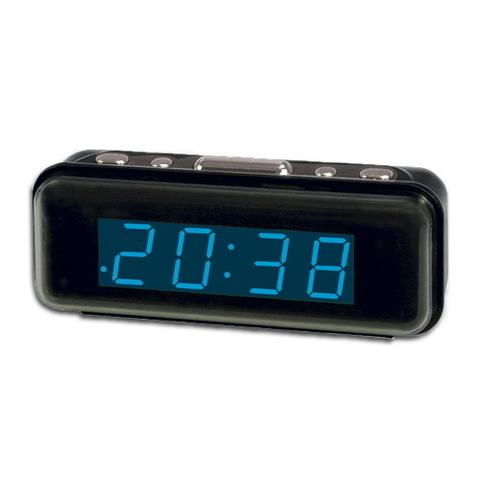 Часы сетевые 738-5 синие, 220V