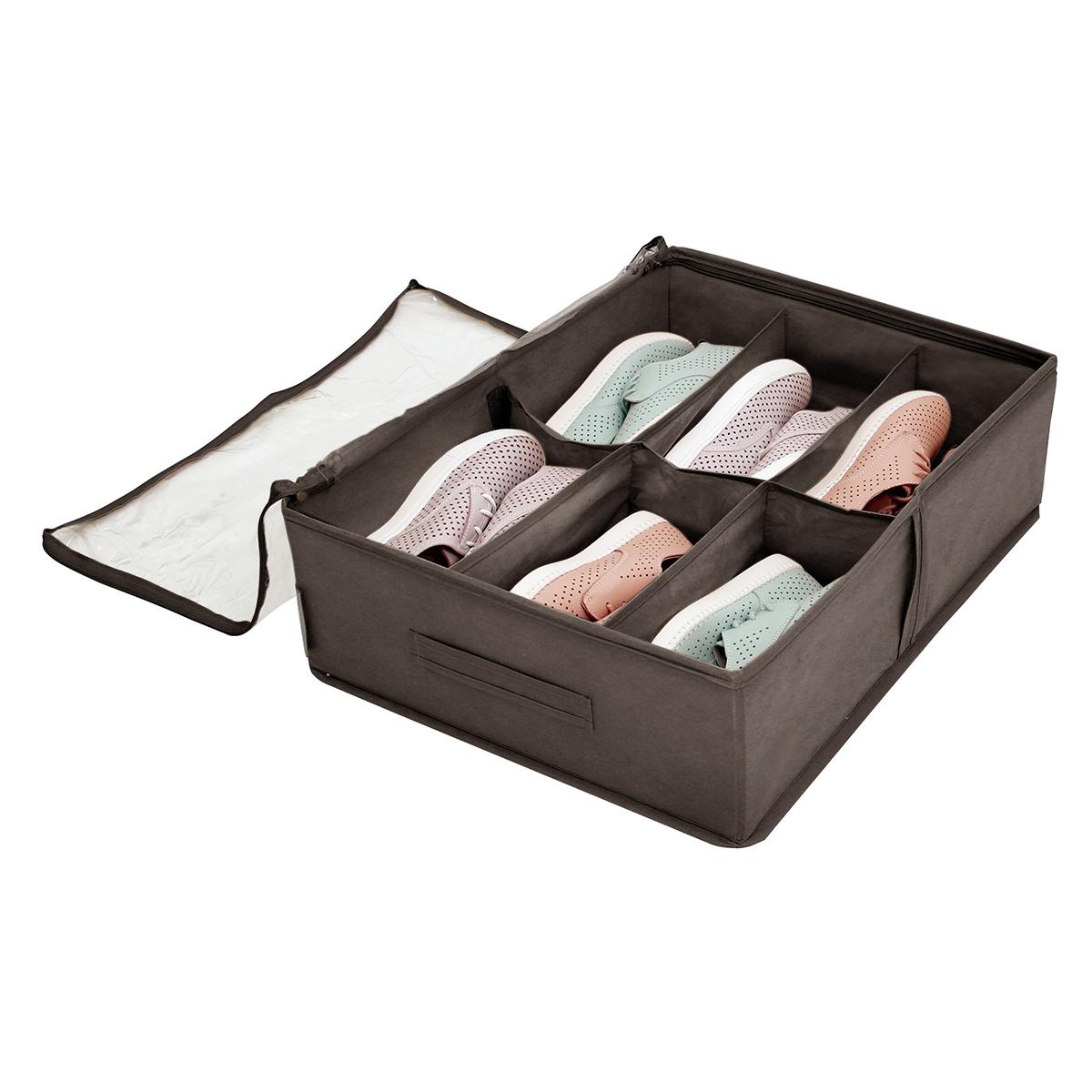 Кофр для обуви 53х40х15 см, 6 ячеек, Прага