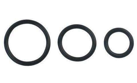 Набор из 3 чёрных колец различного диаметра