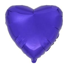 Воздушный шар Сердце 44см (Фиолетовое)