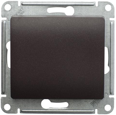 Кнопочный выключатель, 10АХ. Цвет Шоколад. Schneider Electric Glossa. GSL000815