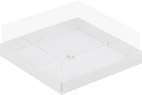 Коробочка под муссовые пирожные ,19*19*8см, (белая), 4