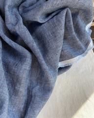 Лен костюмный 100%, цвет Джинсовый твид