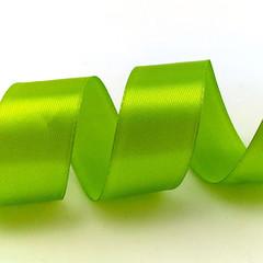 Лента Атлас Свежая зелень, 25 мм * 22,85 м