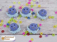 Пластиковый декор Осьминожка голубой