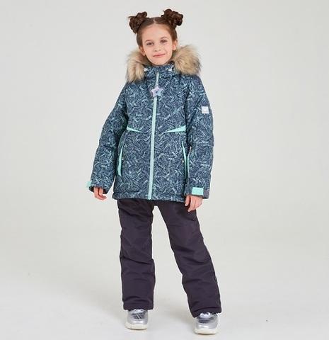 Batik Зимний комплект Эва 429-22з принт/мятный